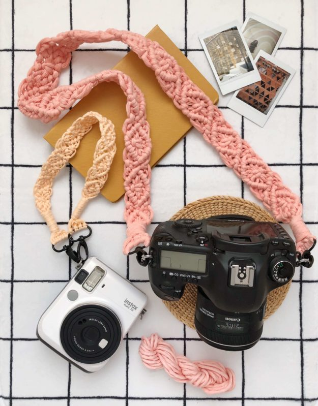 Crafts To Make and Sell For Teens - DIY Simple Macrame Camera Strap Tutorial - How to Make a Macrame Camera Strap - Easy Craft Project Ideas To Make for Selling On Etsy and Online - Cool Ideas and DIY Ideas You Can Sell On Etsy - Fun and Cheap Do It Yourself Projects for Teenagers to Make Extra Money This Summer #teencrafts #craftstomakeandsell #diyideas