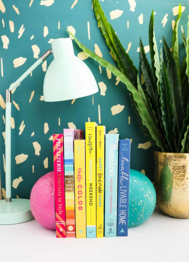 Crafts To Make and Sell For Teens - DIY Splatter Paint Concrete Sphere Bookend Tutorial - How to Make Concrete Bookends - Easy Craft Project Ideas To Make for Selling On Etsy and Online - Cool Ideas and DIY Ideas You Can Sell On Etsy - Fun and Cheap Do It Yourself Projects for Teenagers to Make Extra Money This Summer #teencrafts #craftstomakeandsell #diyideas