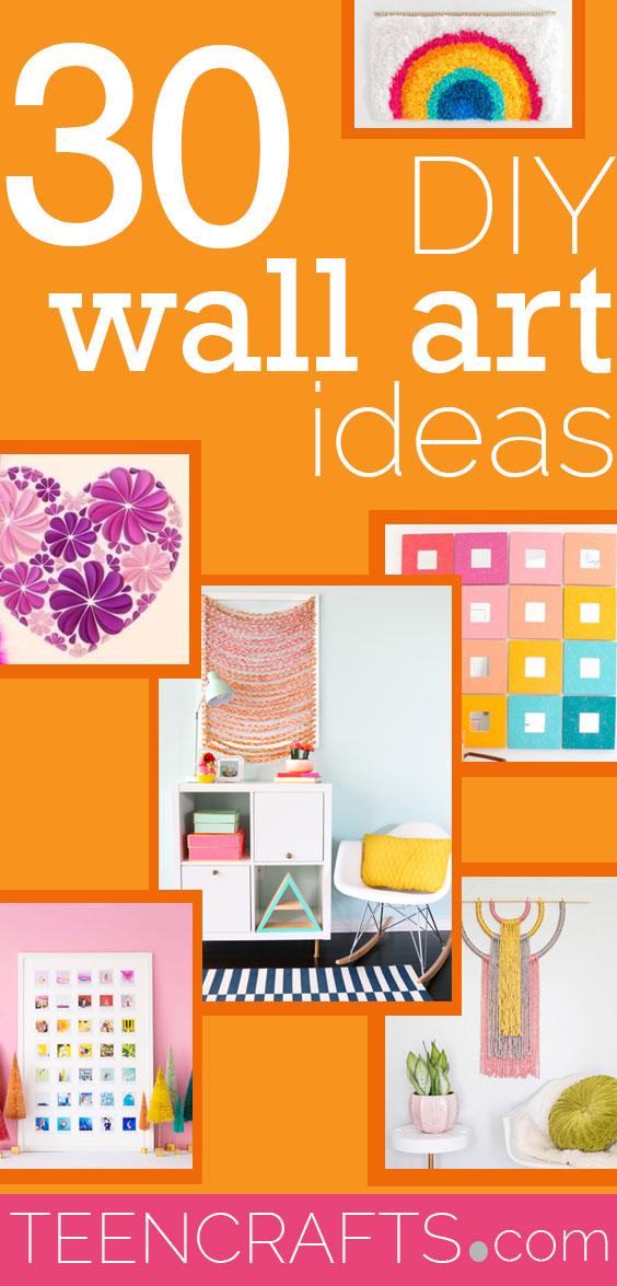 Cool Wall Art Ideas for Teens - Cheap and Easy DIY Canvas Projects, Paintings and Arts and Crafts for Bedroom Walls - Inexpensive, Quick Project Tutorials for String Art, Crayon, Yarn, Paint Chip, Boho, Simple and Modern Decor for Teens, Teenagers and Tweens - Colorful and Creative Paint, Glue and Mod Podge Craft Idea #teencrafts #diyideas #roomdecor