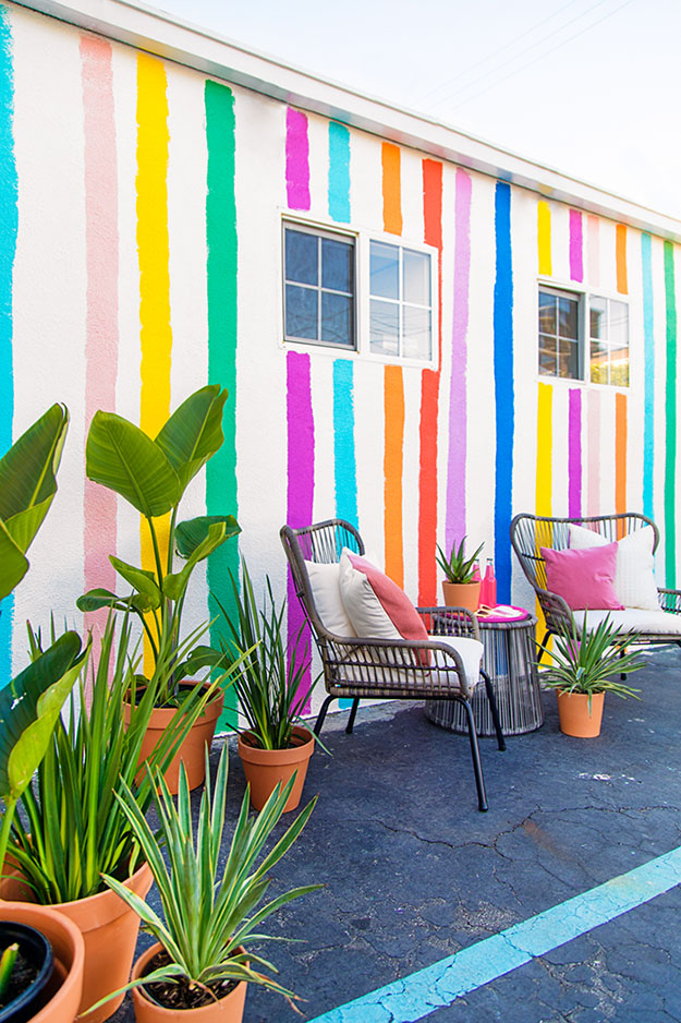 Painting Ideas for Room - DIY Rainbow Striped Wall - How to Paint A Rainbow Striped Wall - Easy Painting Ideas for Walls - Ways to Paint Walls - Wall Paint Inspiration - Teen Room Decor Ideas #teencrafts #paintwalls #diyideas
