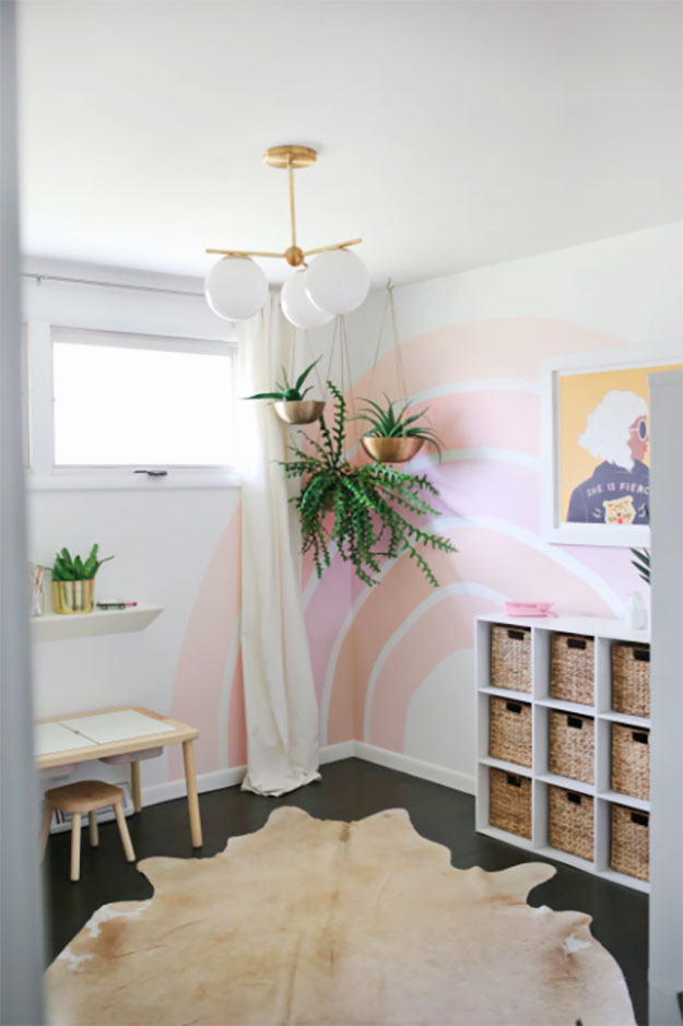 Painting Ideas for Room - DIY Rainbow Corner Accent Tutorial - Easy Painting Ideas for Walls - Ways to Paint Walls - Wall Paint Inspiration - Teen Room Decor Ideas #teencrafts #paintwalls #diyideas