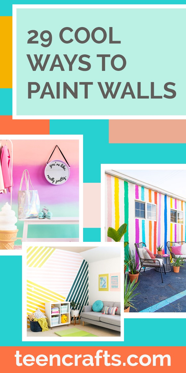 Painting Ideas for Room - Easy Painting Idea for Walls - Teen Room Decor Ideas - Cool Ways to Paint Walls With Patterns and Textures, Stripes - Creative Bedroom Decorating on A Budget #teencrafts #diyideas #painting
