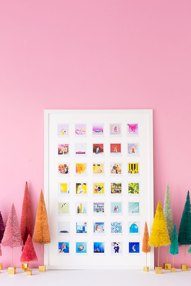 Cool Wall Art Ideas for Teens - DIY Rainbow Photo Collage Tutorial - How to Make a Photo Collage - Cheap and Easy DIY Canvas Projects, Paintings and Arts and Crafts for Bedroom Walls - Inexpensive, Quick Project Tutorials for String Art, Crayon, Yarn, Paint Chip, Boho, Simple and Modern Decor for Teens, Teenagers and Tweens - Colorful and Creative Paint, Glue and Mod Podge Craft Idea #teencrafts #diyideas #roomdecor