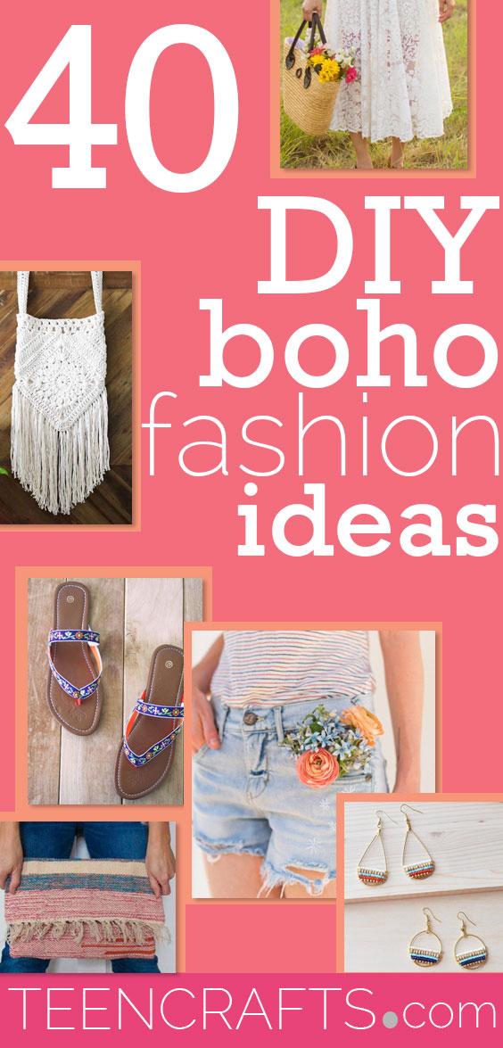 Boho Clothes DIY Fashion for Bohemian Style Hippie Clothing - Vintage Style Clothing to Make - Cheap Teen Fashion Ideas #teencrafts #fashion