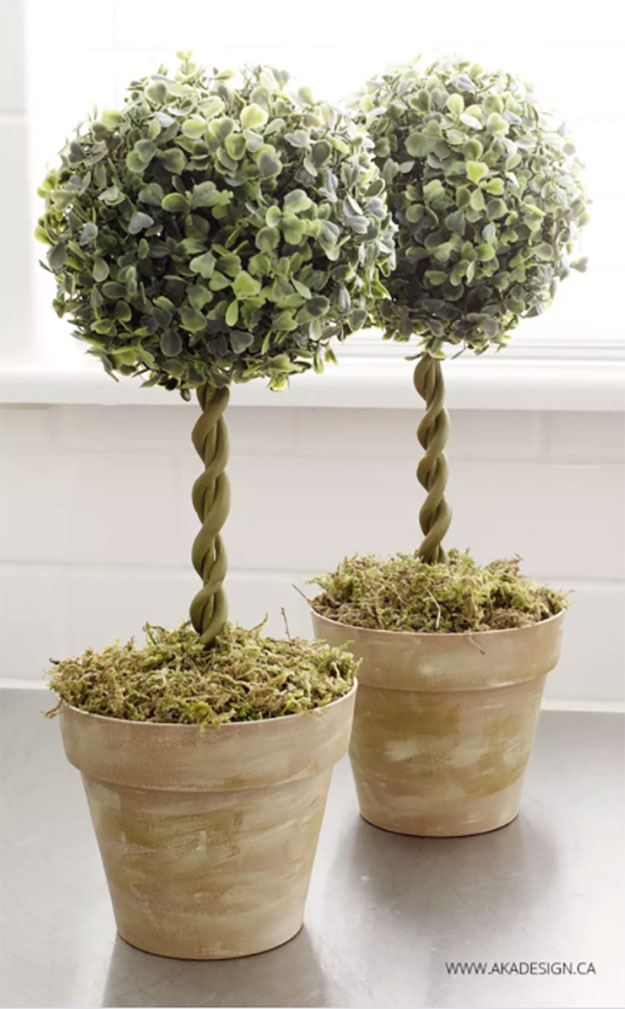 Dollar Store Crafts - DIY Topiary Trees Tutorial - How to Make Topiary Trees - Easy DIY Dollar Tree Crafts - Cheap DIY Projects for Teenagers, Room, Decor, and Gifts - Dollar Tree Crafts to Make and Sell, at Home - Handmade Craft Ideas to Sell with Instructions and Tutorials - Easy Teen Crafts #teencrafts #diyideas #dollarstorecrafts