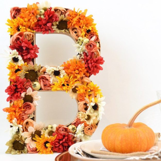 Dollar Store Crafts - DIY 3D Floral Letters Tutorial - How to Make Floral Letters - Easy DIY Dollar Tree Crafts - Cheap DIY Projects for Teenagers, Room, Decor, and Gifts - Dollar Tree Crafts to Make and Sell, at Home - Handmade Craft Ideas to Sell with Instructions and Tutorials - Easy Teen Crafts #teencrafts #diyideas #dollarstorecrafts