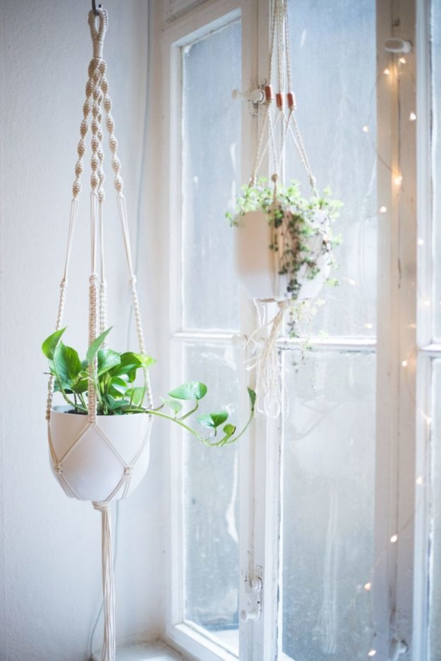 Dollar Store Crafts - DIY Macrame Plant Hanger Tutorial - How to Make a Macrame Plant Hanger - Easy DIY Dollar Tree Crafts - Cheap DIY Projects for Teenagers, Room, Decor, and Gifts - Dollar Tree Crafts to Make and Sell, at Home - Handmade Craft Ideas to Sell with Instructions and Tutorials - Easy Teen Crafts #teencrafts #diyideas #dollarstorecrafts