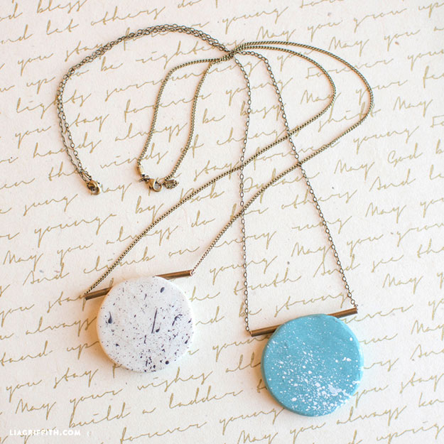 DIY Jewelry Ideas - DIY Polymer Clay Necklace Tutorial - How to Make Polymer Clay Jewelry - How to Make Your Own Jewelry - Jewelry Making Ideas for Beginners - Handmade Craft Ideas to Sell with Step by Step Instructions  - Easy Teen Crafts #teencrafts #diyideas #diyjewelry