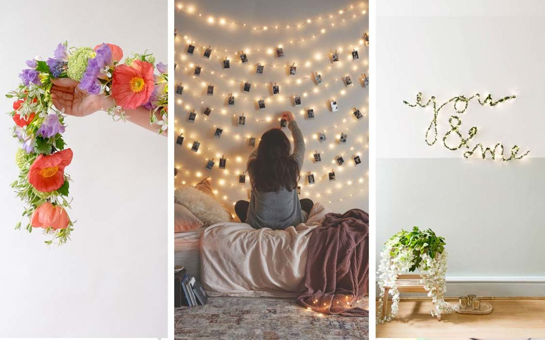 DIY Ideas With String Lights - Easy, Fun, Cool Decor To Make With String Lights - Cheap Room Decor Ideas for Teens, Fun Apartment Lighting Projects and Creative Ways to Decorate Your Bedroom - How To Decorate Teens and Teenagers Bedrooms #teencrafts #diyideas #stringlights