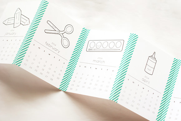 Washi Tape Crafts - DIY Washi Tape Calendar Tutorial - How to Make A Washi Tape Calendar - Simple, Easy DIY Ideas To Make With Washi Tape - Organizers, Cute Gifts, Cheap Wall Art, Fun and Quick Things To Make For Friends - Cute Ideas for Teens, Adults, Kids and Tweens to Make at Home #teencrafts #diyideas #washitapecrafts