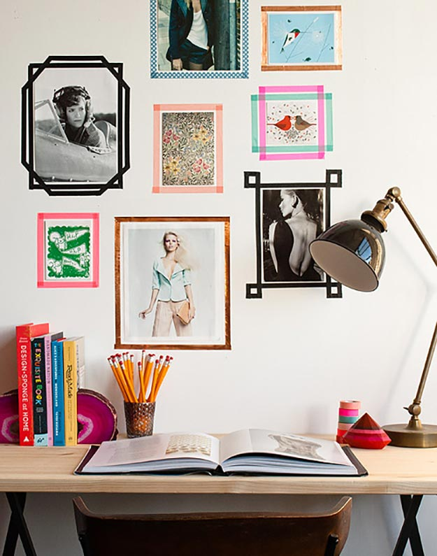 Washi Tape Crafts - DIY Washi Tape Picture Frames Tutorial - Easy DIY Picture Frame Ideas - Simple, Easy DIY Ideas To Make With Washi Tape - Organizers, Cute Gifts, Cheap Wall Art, Fun and Quick Things To Make For Friends - Cute Ideas for Teens, Adults, Kids and Tweens to Make at Home #teencrafts #diyideas #washitapecrafts