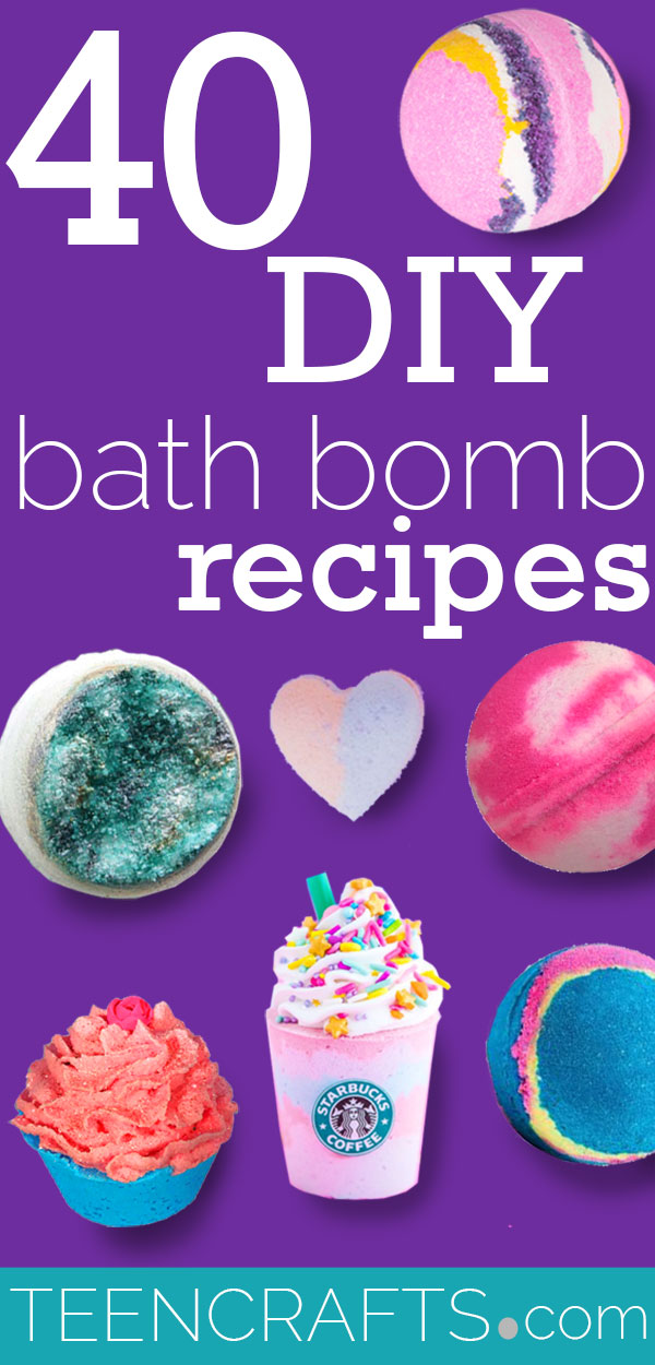 DIY Bath Bombs - Homemade Bath Bomb Recipes to Make at Home - Step by Step Tutorial Ideas, Instructions and Ingredients for Making Bath Bombs - Cupcake, Donut, Amethyst and Geode, Detox, Galaxy and Glitter