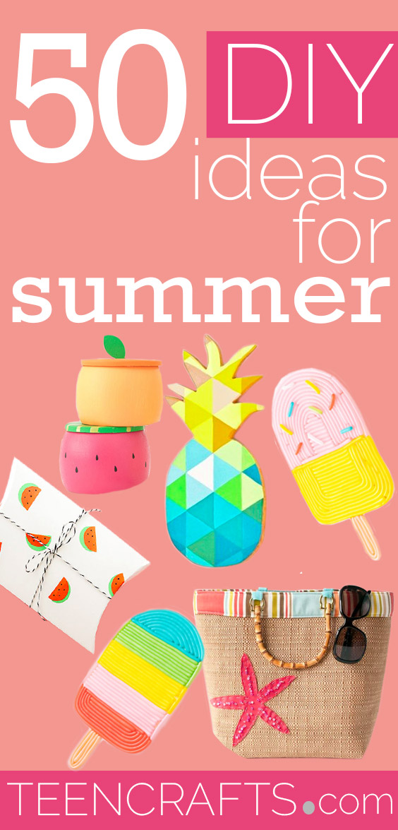 DIY Ideas for Summer - Cute Summery Crafts to Make and Sell - DIY Summer Crafts, Projects, Decor for Kids, Tweens, Teens, Adults, Seniors - Ideas to Make for Lake, Pool, Outdoors - Creative Things to Make for Summertime - Teen Crafts and DIY Projects #teencrafts #diyideas #craftideasforsummer