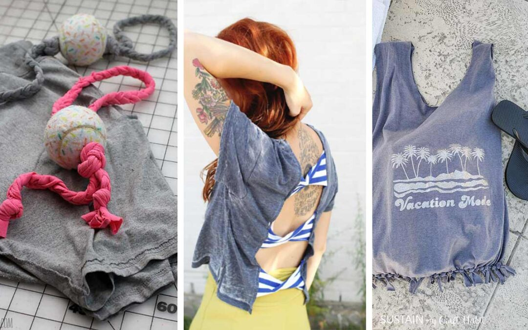 42 DIY T-shirt Makeovers